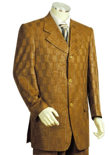 SKU#KJ54512 Mens Long Zoot Suits in darkgoldrod $189