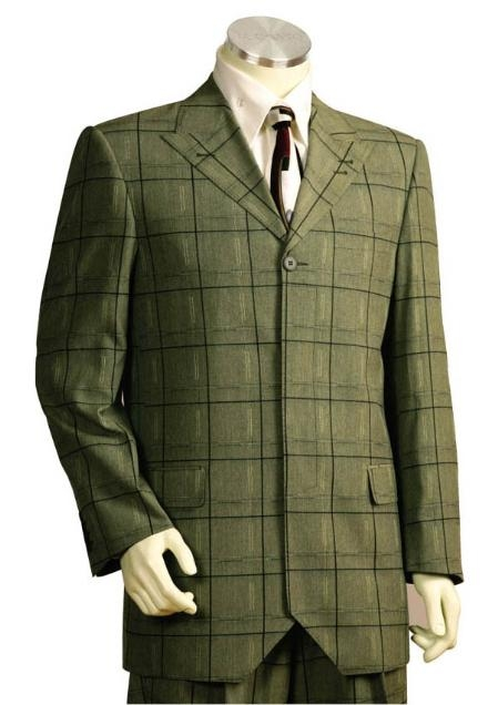 SKU#JK5474 Mens Long Zoot Suits in darkolivegreen $149