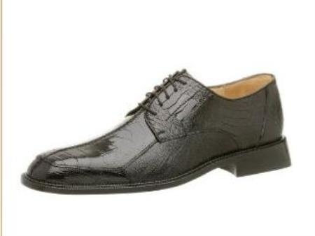 Belvedere Mens Marco Oxford Made of Ostrich Leg Black $319