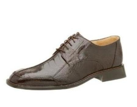 Belvedere Mens Marco Oxford Made of Ostrich Leg Brown $319
