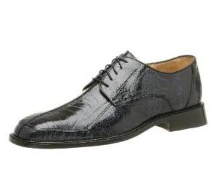 Belvedere Mens Marco Oxford Made of Ostrich Leg Navy $319