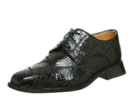 Belvedere Mens Mario Oxford Made of Alligator Black $295