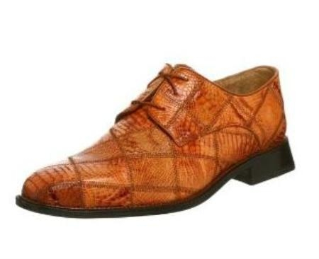 Belvedere Mens Mario Oxford Made of Alligator Honey $275