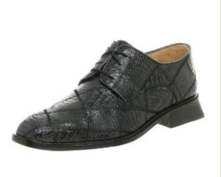 Belvedere Mens Mario Oxford Made of Alligator Navy $295