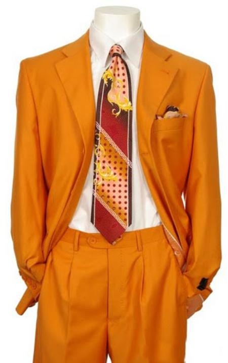 SKU#RW231 Mens Multi-Colored Suit Collection Orange $175