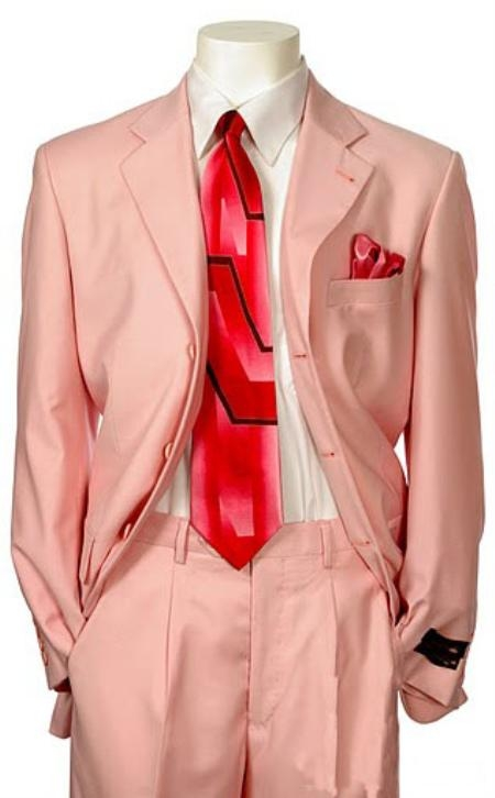 SKU#EMIL_C7 Mens Multi-Colored Suit Collection Pink $109