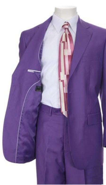 SKU#AL831 Mens Multi-Colored Suit Collection Purple $139