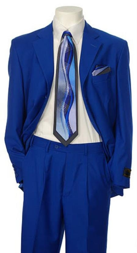 SKU#EMIL_C7 Mens Multi-Colored Suit Collection Royal $139