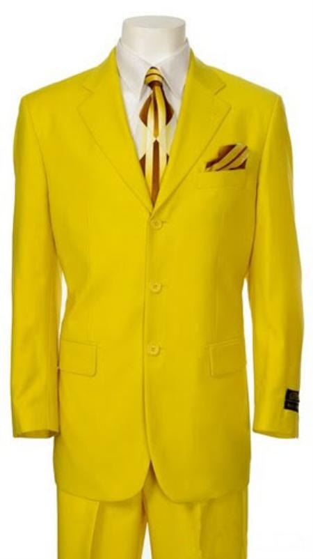 SKU#QN834 Mens Multi-Colored Suit Collection Yellow $175