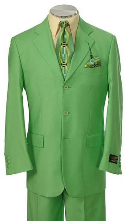 SKU#EMIL_C7 Mens Multi-Colored Suit Collection Green $165