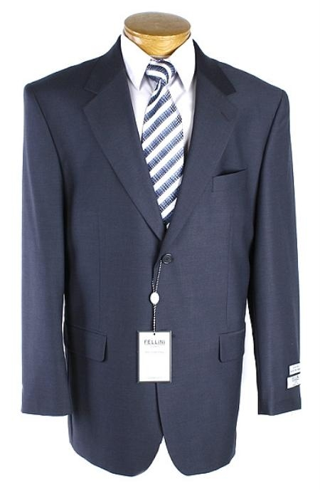 SKU#BQ2311 Mens Navy 2 Button Suit $99