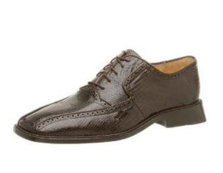 Belvedere Mens Noce Oxford Made of Lizard and Ostrich Brown $299
