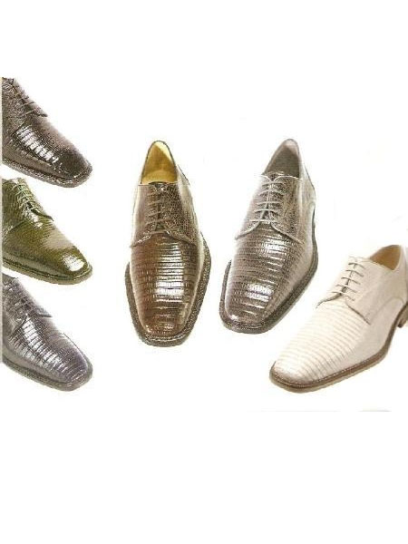 Belevedere Mens Olivo Oxford in Many Colors  beautifully textured lizard upper $255