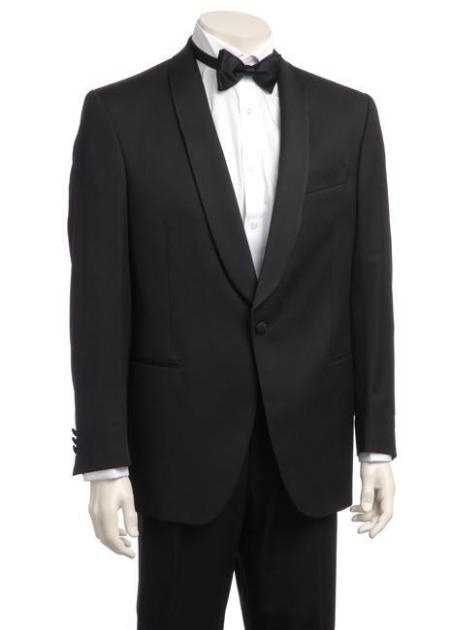SKU#JL827 Mens One-button Satin Shawl Lapel Tuxedo