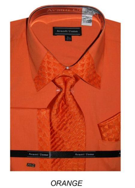 Mens Orange Dress Shirts Tops, Clothing Kohl s