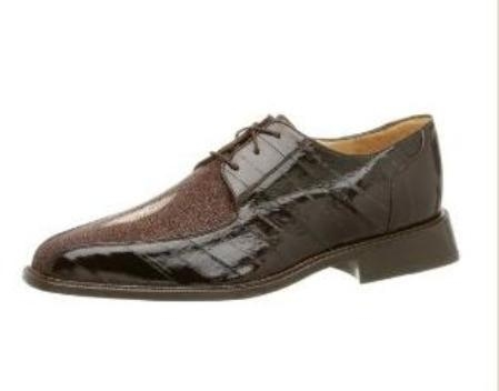 Belvedere Mens Ottone Oxford Made of String Ray & Eel Brown $299