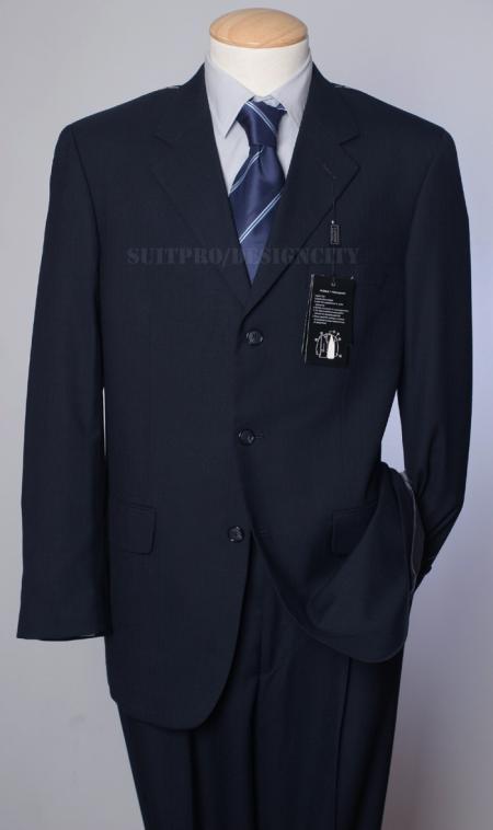 SKU#FRB241 Mens Pick-Stitch Navy Suit- Super 150s Virgin Wool Developed by NASA $295