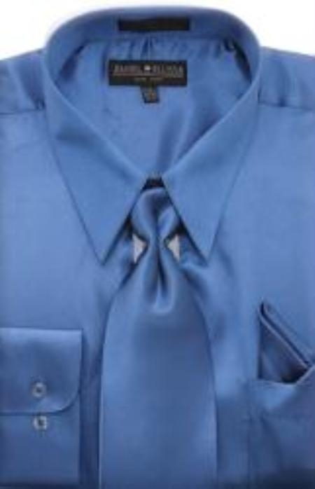 MensUSA.com Mens Royal Blue Shiny Silky Satin Dress Shirt Tie(Exchange only policy) at Sears.com