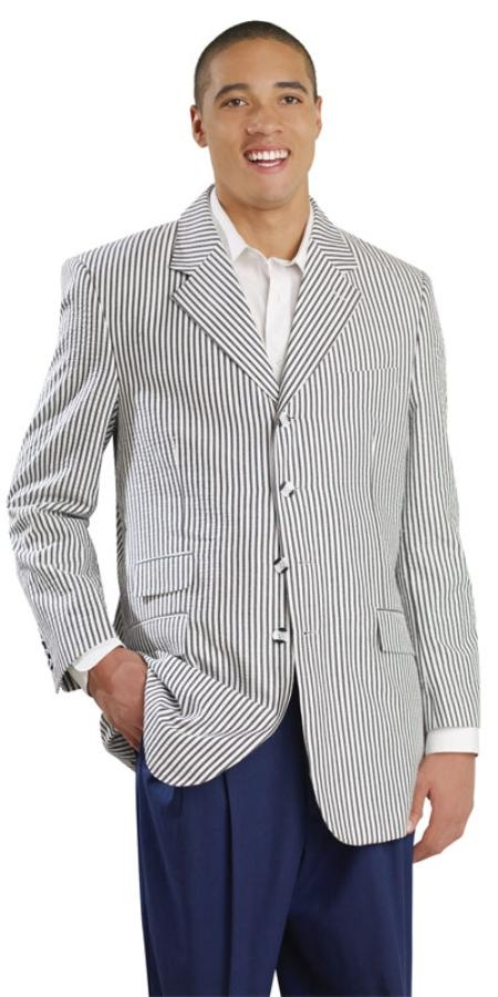 SKU#EV3928 Mens Seersucker Suit Available in Blue, Black, Red and Tan $99
