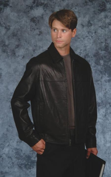 SKU#RB743 Mens Semi blouson jacket Black $139