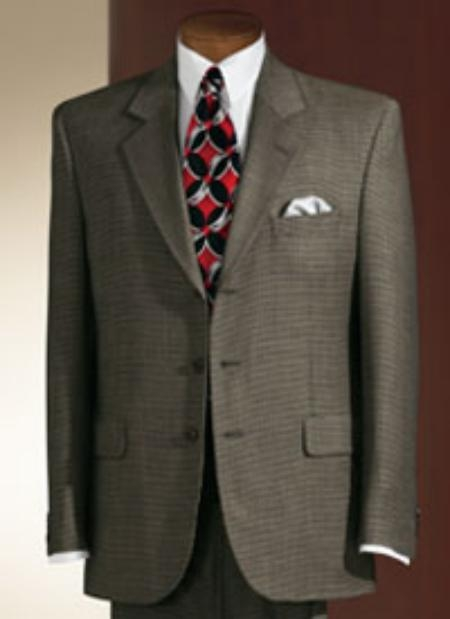 SKU# GTF5 Mens Shark Skin Olive Green Men 3 Buttons Dress Business Suits $175