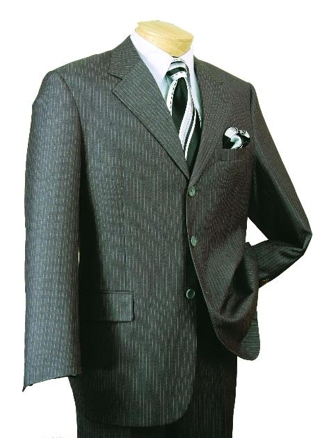 SKU#GR8690 Mens Single Breasted 3 Button affordable suit online sale - Gray $139