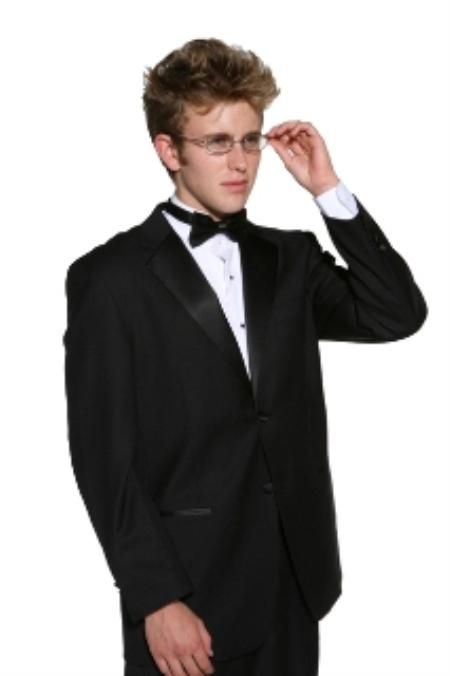 SKU#JD2323 Mens 2 Button Super 140s Merino Wool Tuxedo Jacket + any size pants (tuxedo separate)