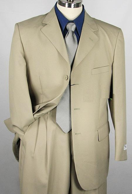 SKU#ERI_3P  Mens Stone Single Breasted Dress cheap discounted Suit $79