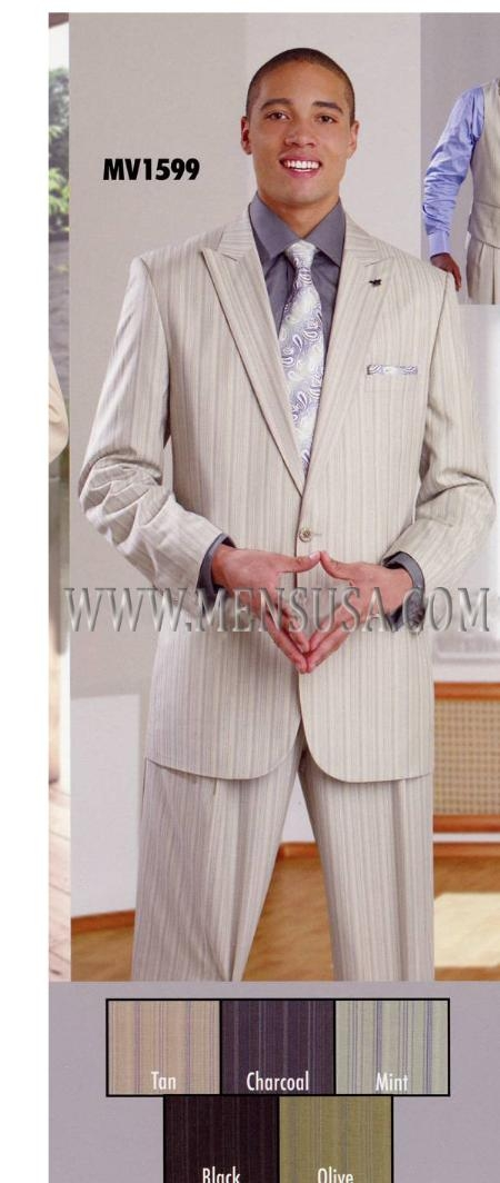 SKU#WM3932 Mens Suit EJ Samuel Tan $109