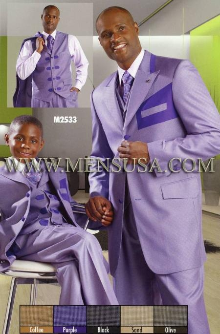 SKU#BV2200 Mens Suits EJ Samuel Purple $179