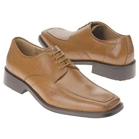 SKU#Z30017 Mens Tan~Coffe oxford style cushioned insole apron style toe $75