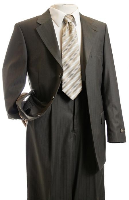 SKU#GY5376 Mens Taupe Tone on Tone Designer affordable suit online sale $139