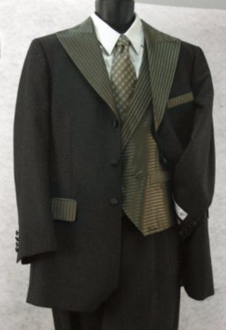 SKU#JD943 Mens Three Button Tuxedo Suits $189