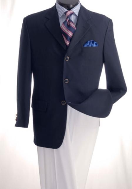 SKU#PM621 Mens 3 Button Blazer
