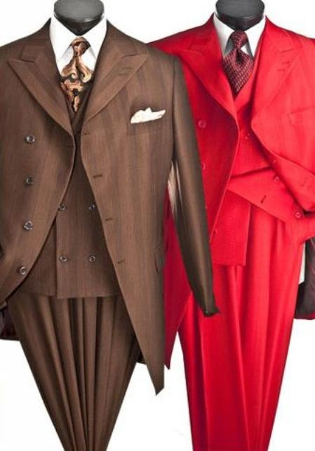 SKU#VB734 Mens Three Piece High Fashion Suits $139