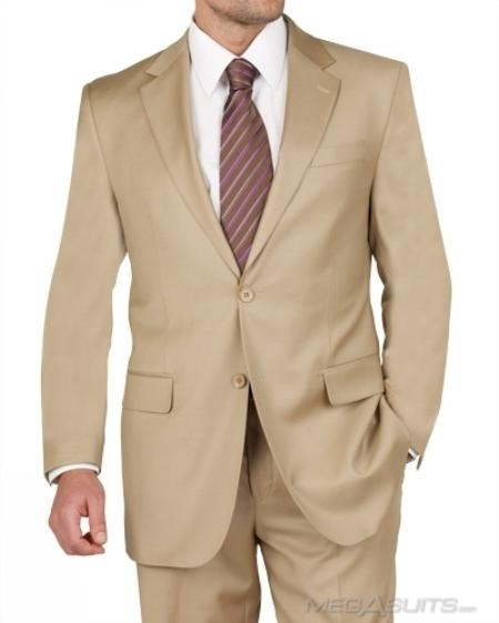 SKU#JL1883 Mens Two Button Gold Suit $119