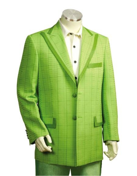 SKU#TF6354 Mens Two Button Suits Lime $175