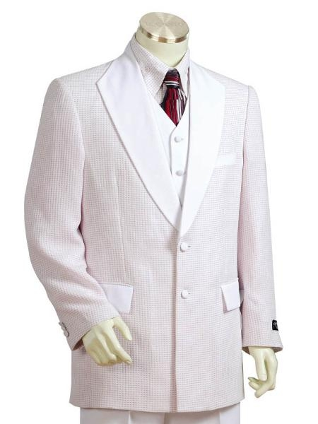 SKU#KS5165 Mens Two Button Suits Snow $175