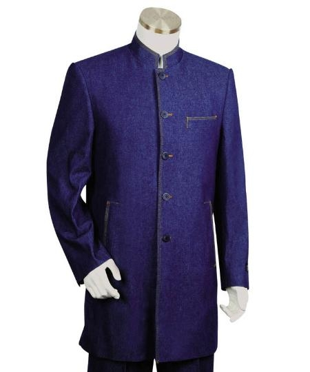 SKU#LK1245 Mens Two Button suit style comes in Midnightblue $175