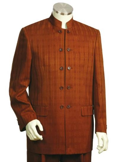 SKU#GF2452 Mens Two Button suit style comes in Brown $175