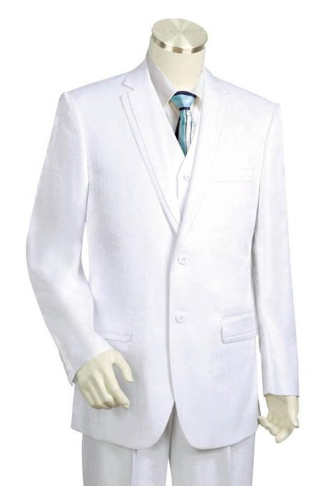 SKU#HG1542 Mens Two Buttons Style comes in White $175