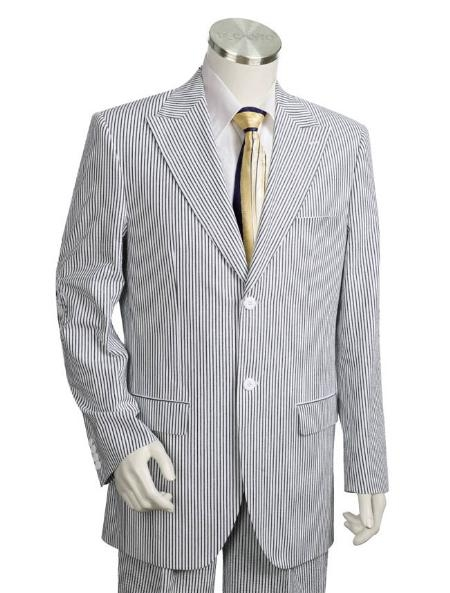 SKU#JK2123 Mens Two Buttons Suit Style comes in White Black
