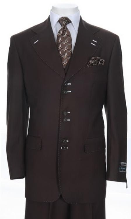 SKU#TX352 Mens Urban Collection Suit Brown $139