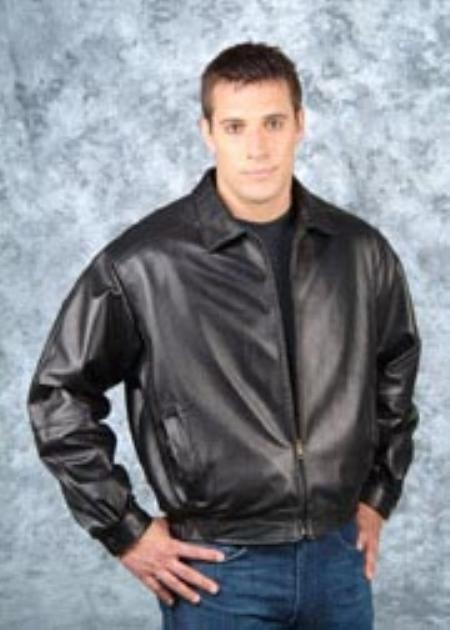 SKU#ZK611 Mens Waist Length Jacket Black $200