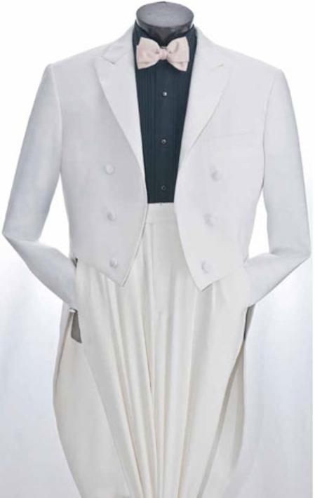 SKU#GS900 Mens White Tuxedo Suits