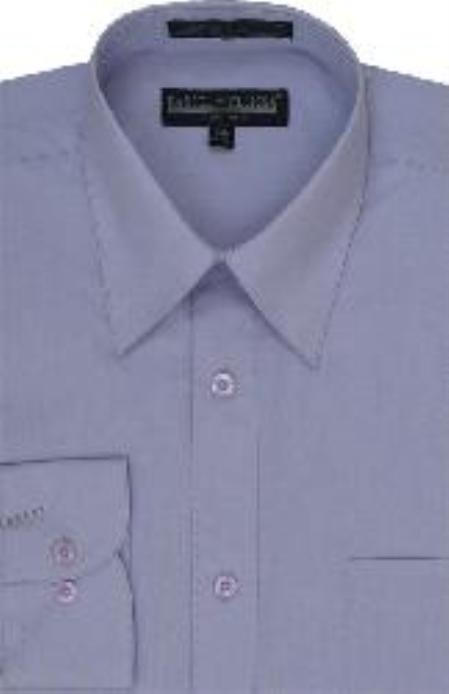SKU#LA230 Mens Lilac Lavender Dress Shirt