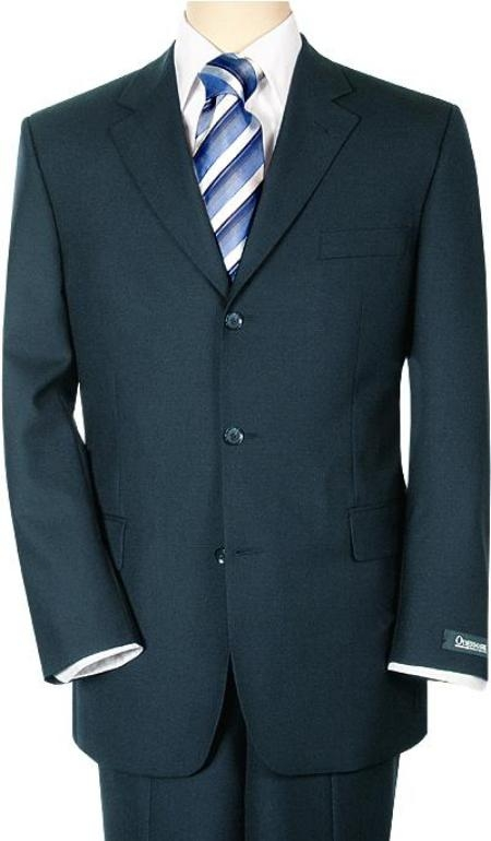 SKU# RT78 Mid Night Blue Double Black Vent 3 Buttons Mens suit Super 140s Wool