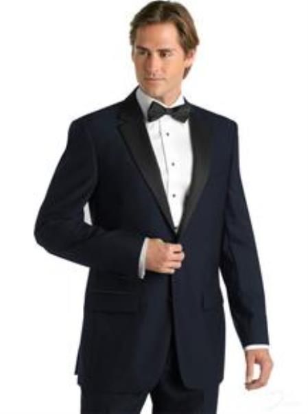 Midnight Blue 2 Button Tuxedo Jacket