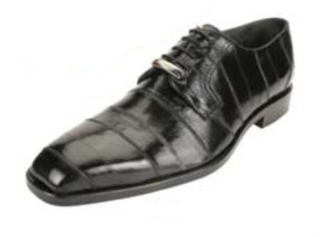 Belvedere Milano made of Genuine Eel Skin in Black $269