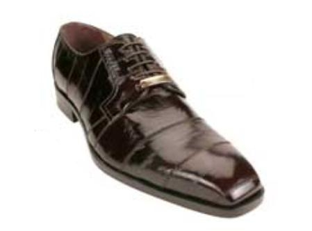 Belvedere Milano made of Genuine Eel Skin in Brown $269